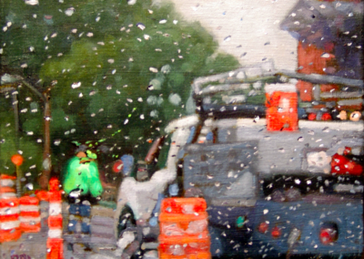 Street Workers, Green   8x10