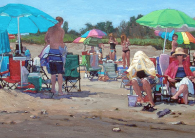 Relaxing at the Beach   16x30