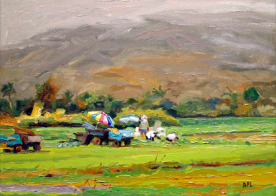 Behind Hanalei Market, Frederic in Charge   9x12